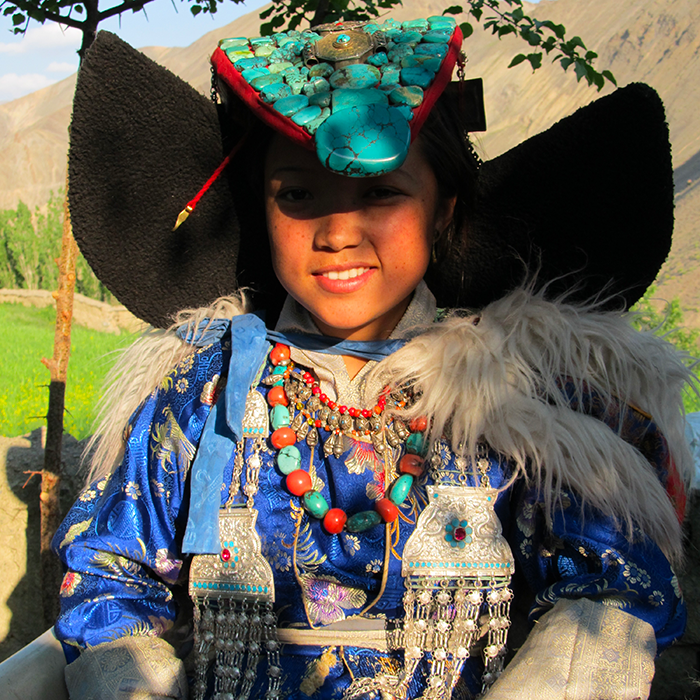 India, Ladakh, Traditional costumes