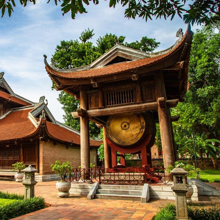 Vietnam, Hanoi, Temple of litterature
