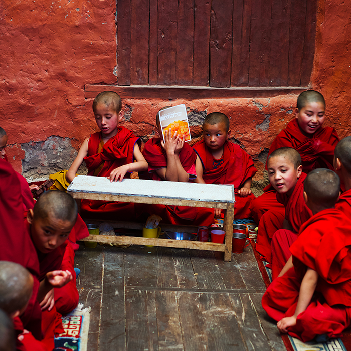 Joseph Gatto, children, Ladakh, India