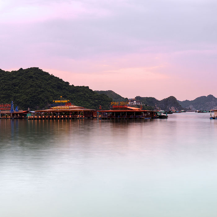 Vietnam, Cat Ba island, Sunset