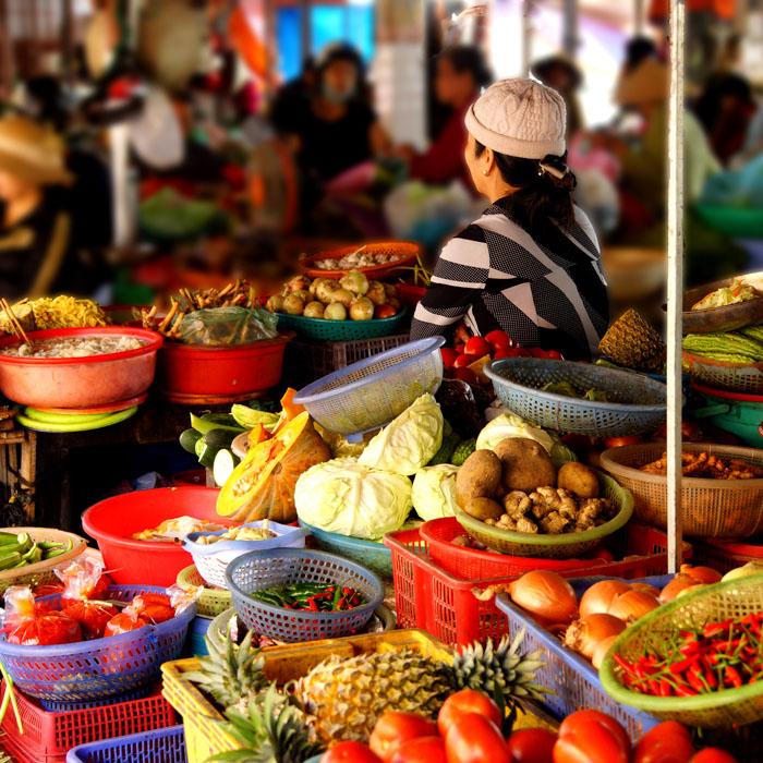 Vietnam, Hoi An, Local market
