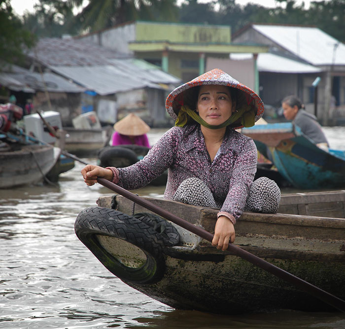 Vietnam, Can Tho, Floating market