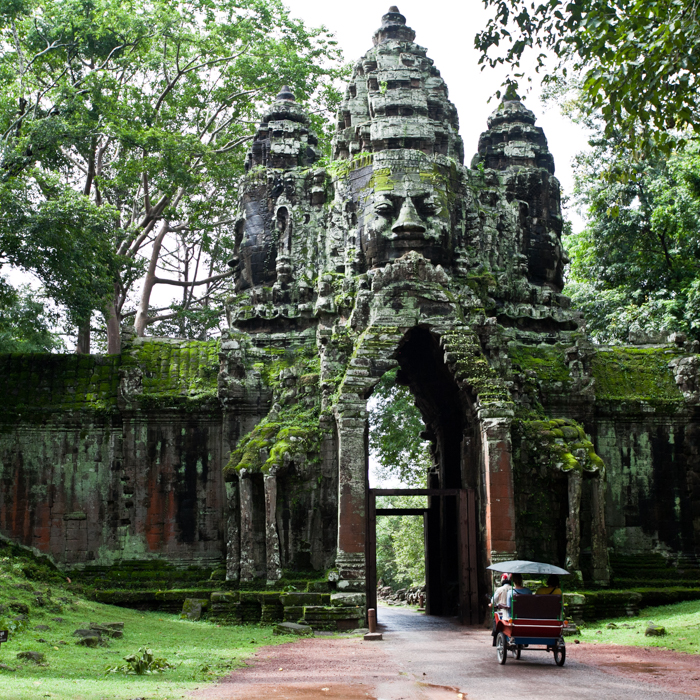 Cambodia, Entrance door, Angkor