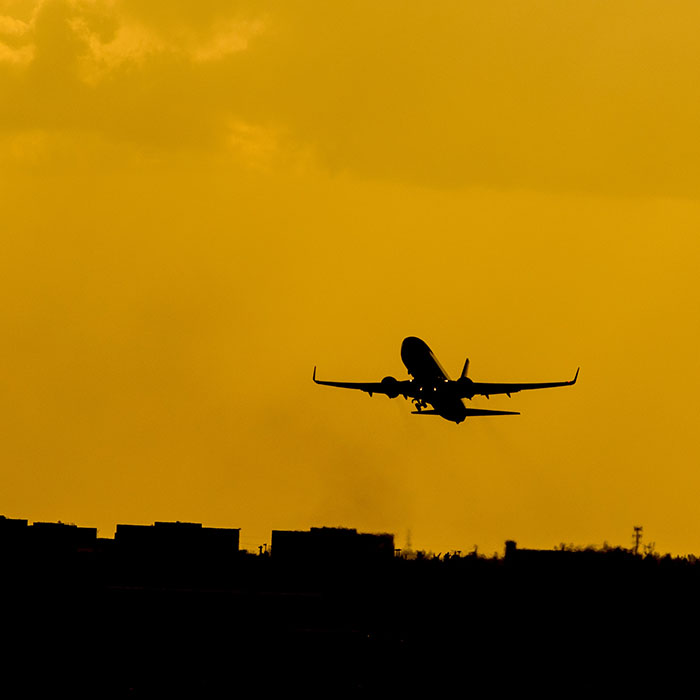 Plane, landing, Cambodia
