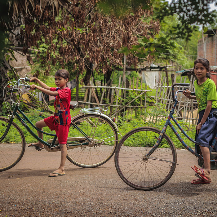Children, countryside, Cambodia