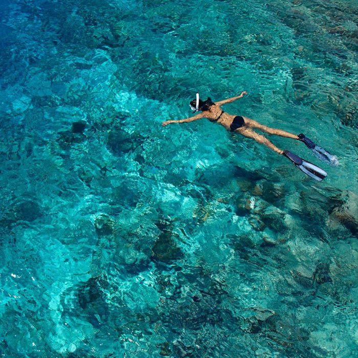 Snorkeling, Bamboo Island, Cambodia