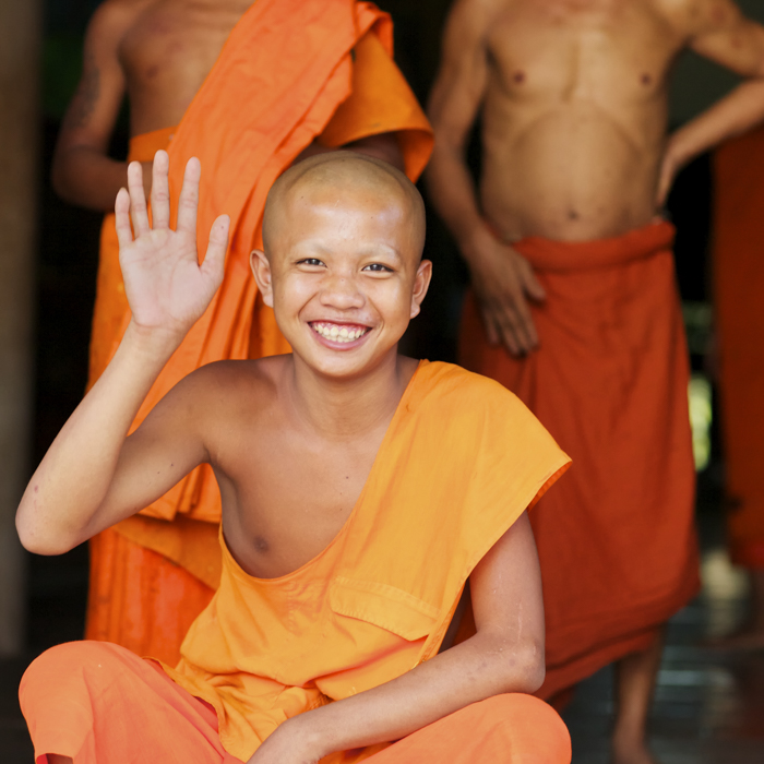Cambodia, Buddhist Monk, Wat Chowk