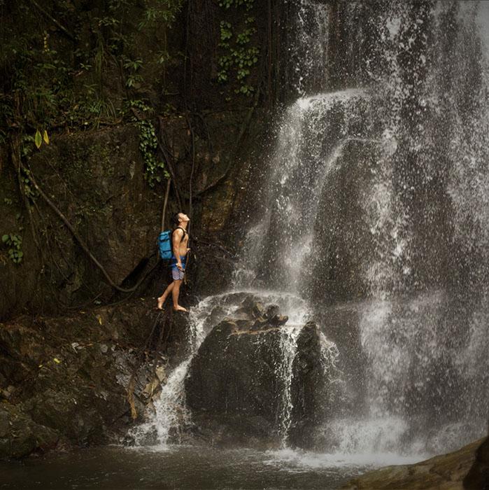 Waterfall, Kbal Spean, Angkor, Cambodia