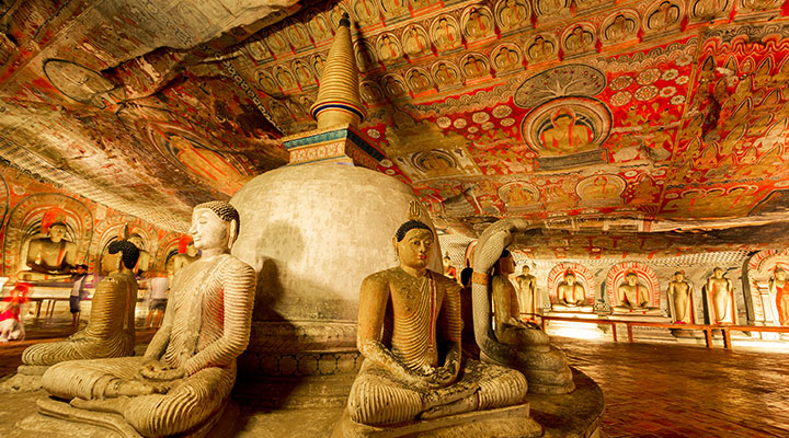 Dambulla Temple & arrival in the mountains