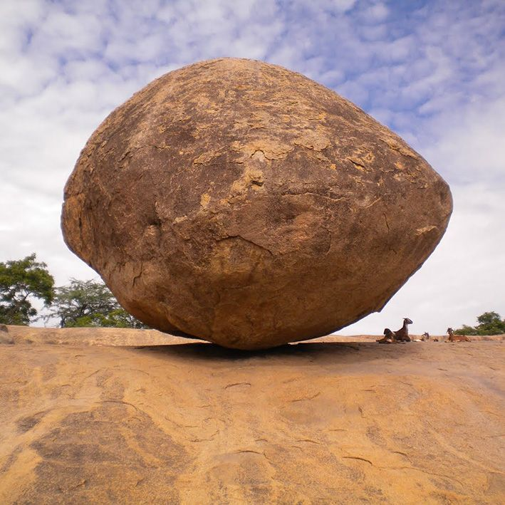 Krishna's Butter Ball, Mahabalipuram, India