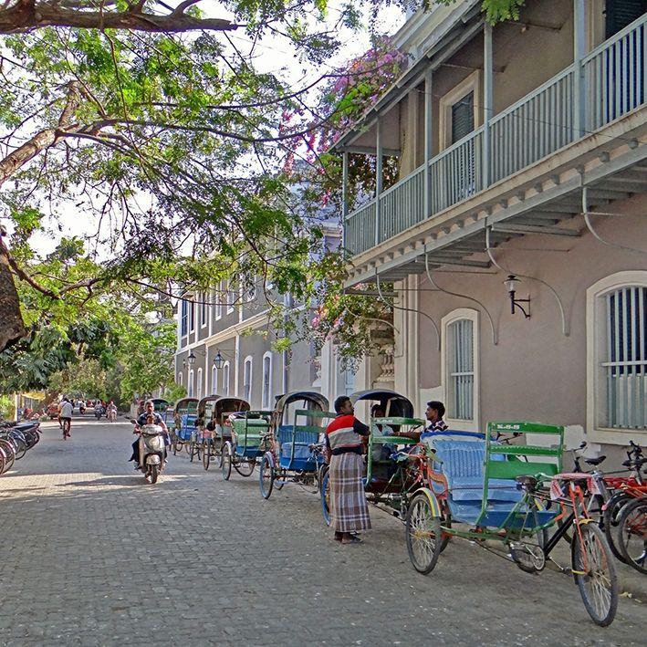 Francois martin street, Pondicherry, India