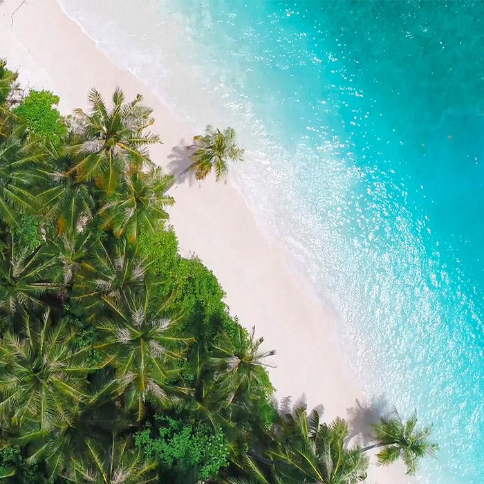 Maldives, amazing beach view