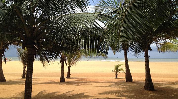 Arrival in Sri Lanka