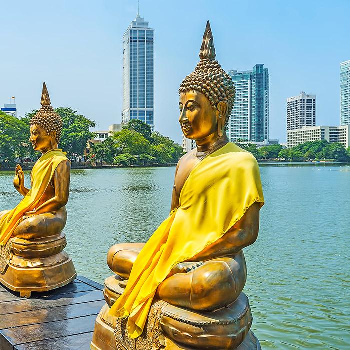 Sri Lanka, Colombo, Buddhist, Temple