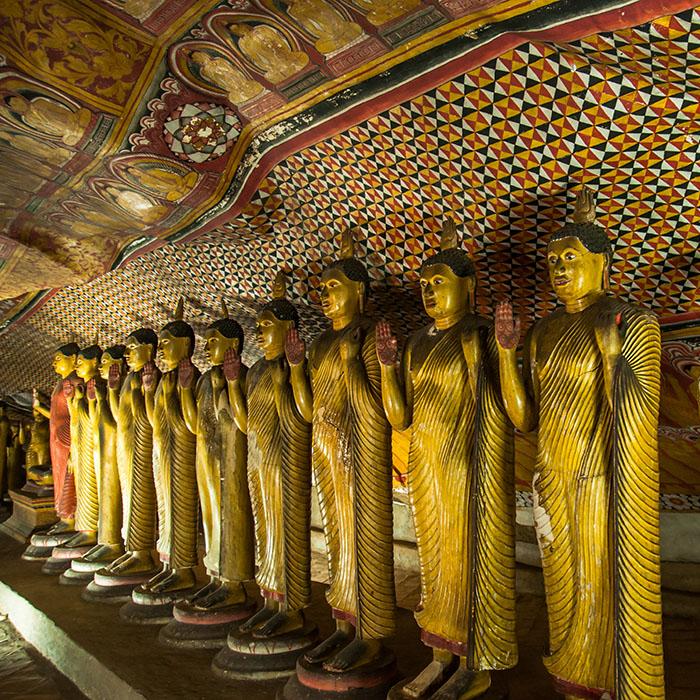 Statues, Buddha, Dambulla, Sri Lanka