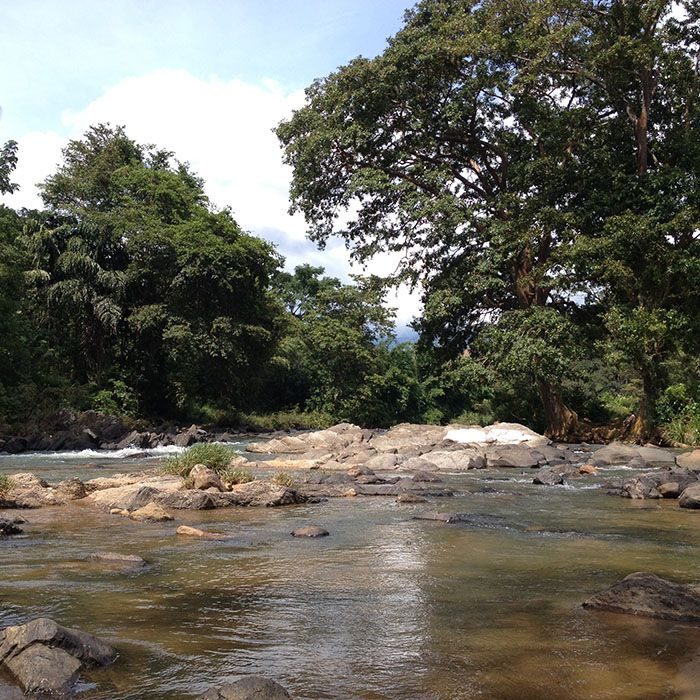 Sri Lanka, Knuckles Range, River