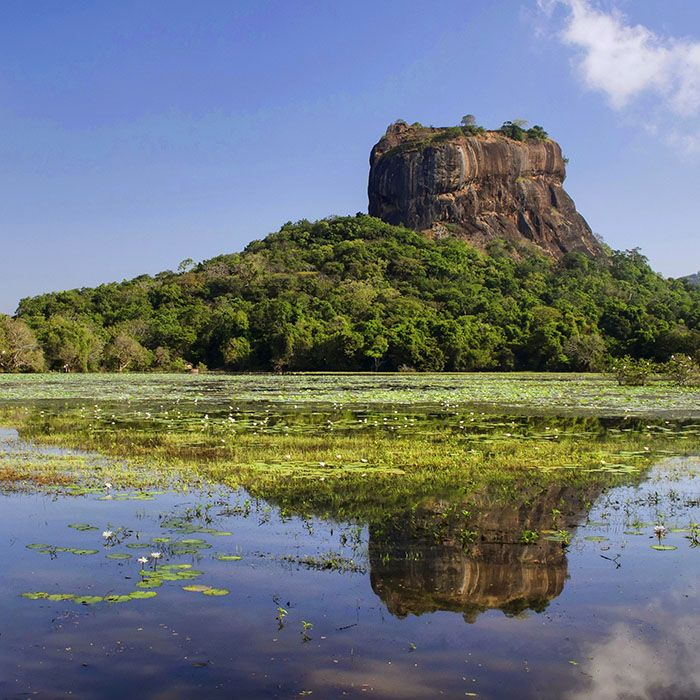 Sri Lanka, Sigiriya, Lake, Rock