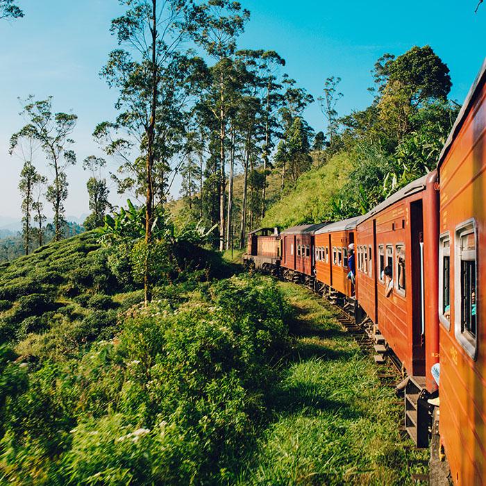 Sri Lanka, Colombo, train, Kandy