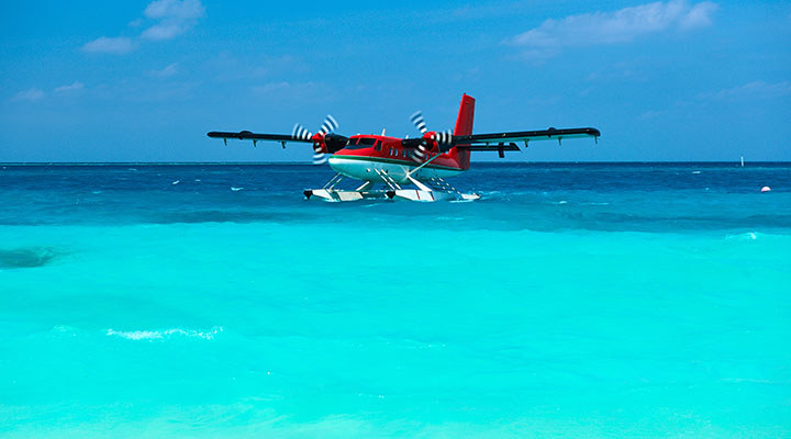 Arrival at the Maldives