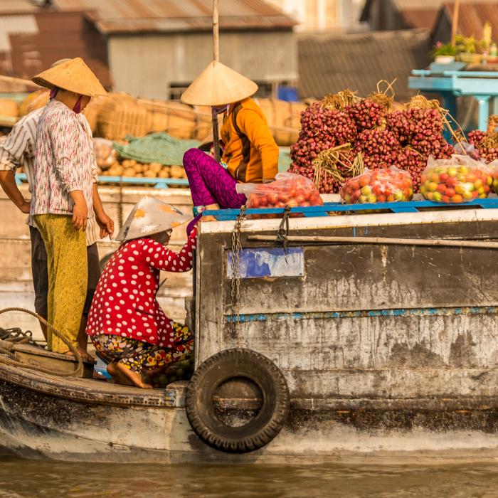 Vietnam, Floating market, Cai Rang