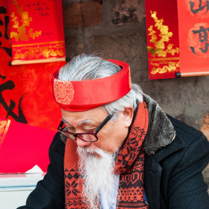 Vietnam, Hanoi, Old master