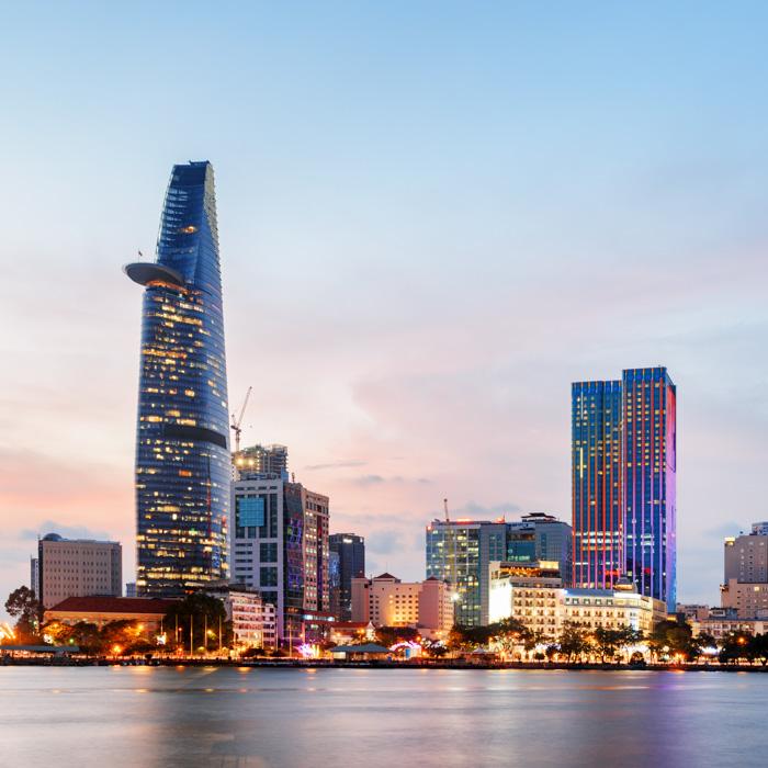 Mordern, city, Ho Chi Minh,Vietnam