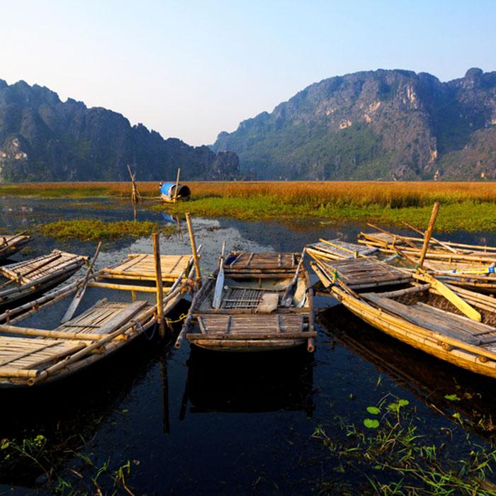 Mountains, Sunset, Ninh Bindh, Vietnam