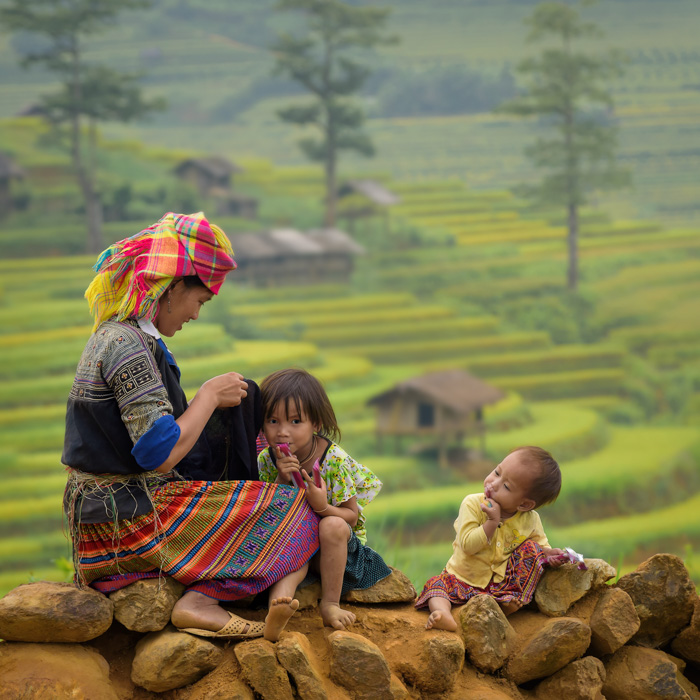 Vietnam, Sapa, Family, Tribal