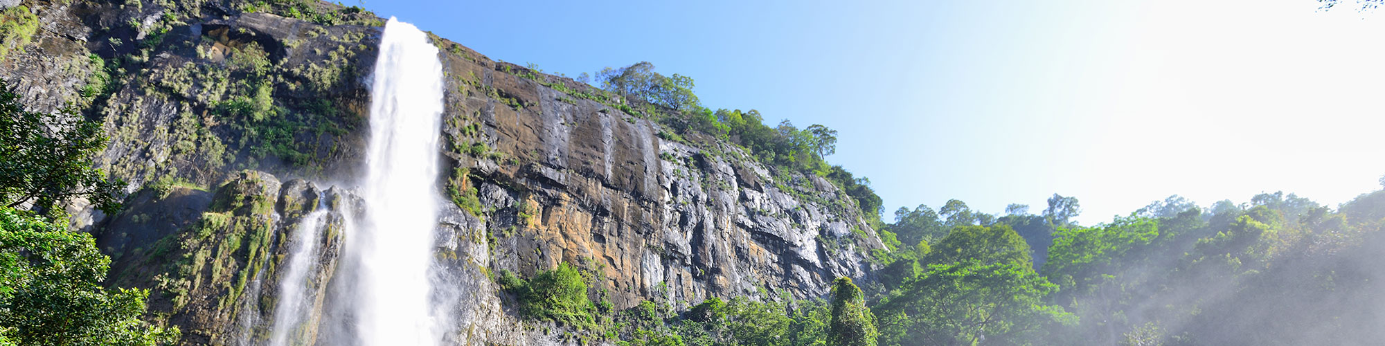 Waterfall trek in Sri Lanka