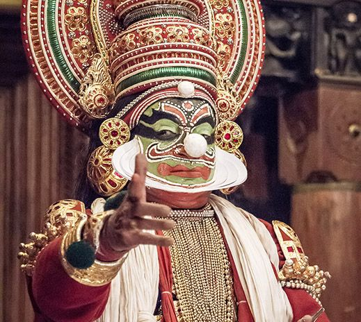 Kathakali, theatre, Cochin, India