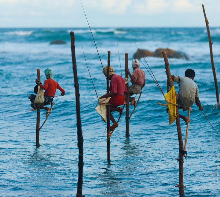 Fishermen, Weligama, Sri Lanka