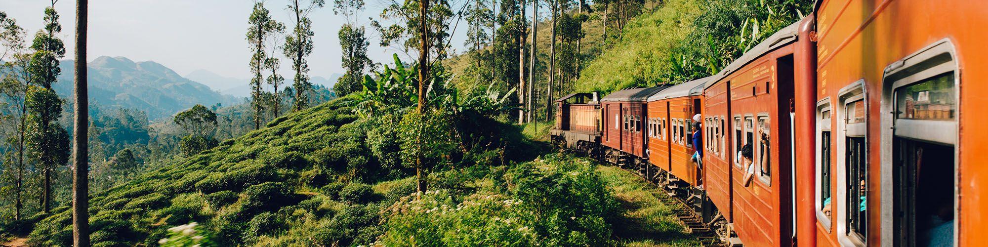 Sri Lanka, Kandy, Train, Landscapes