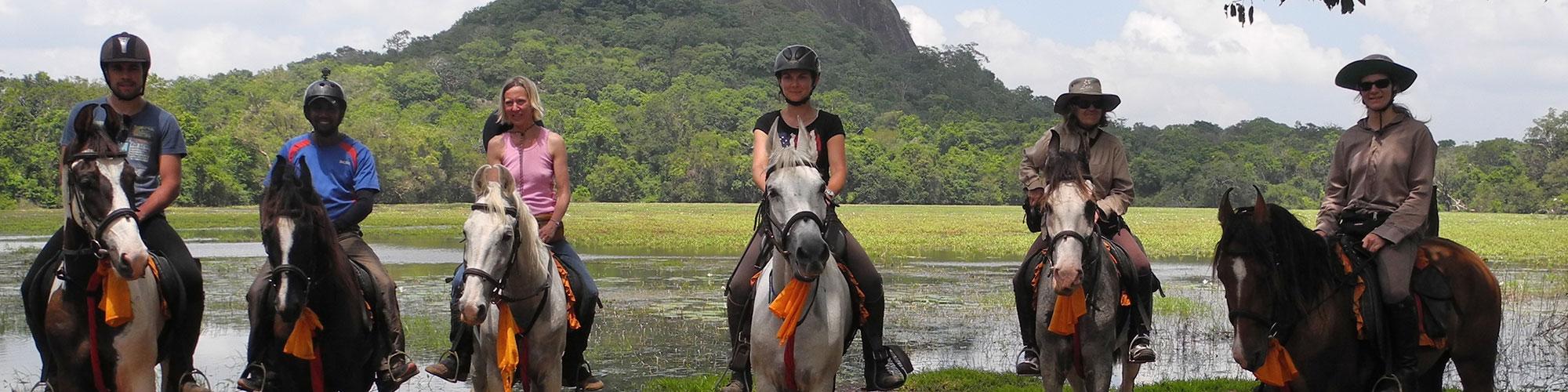 Horse riding in Sigiriya