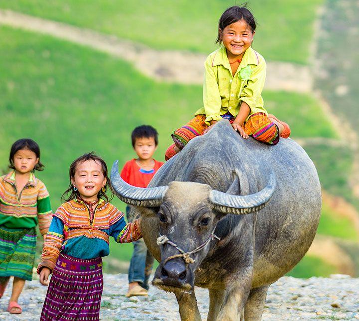 Vietnam, Sapa, Children, Hmong, Ethnic