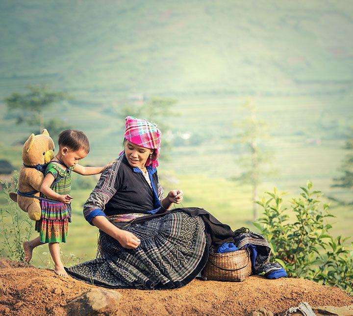 Vietnam, Sapa, Hmong Family