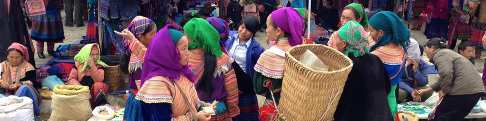 Bac Ha Sunday market in Vietnam