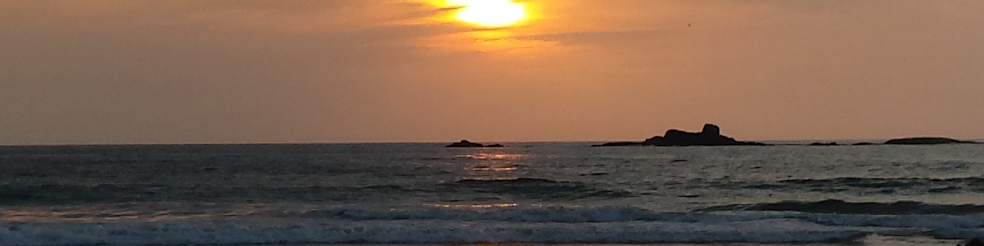 Sunset in southern Sri Lanka
